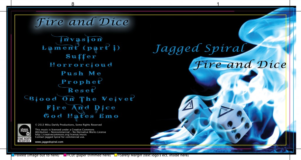 Jagged Spiral Album Cover Rough for Fire And Dice
